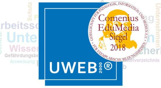 UWEB2000® wird mit dem COMENIUS-EDUMEDIA-SIEGEL 2018 ausgezeichnet