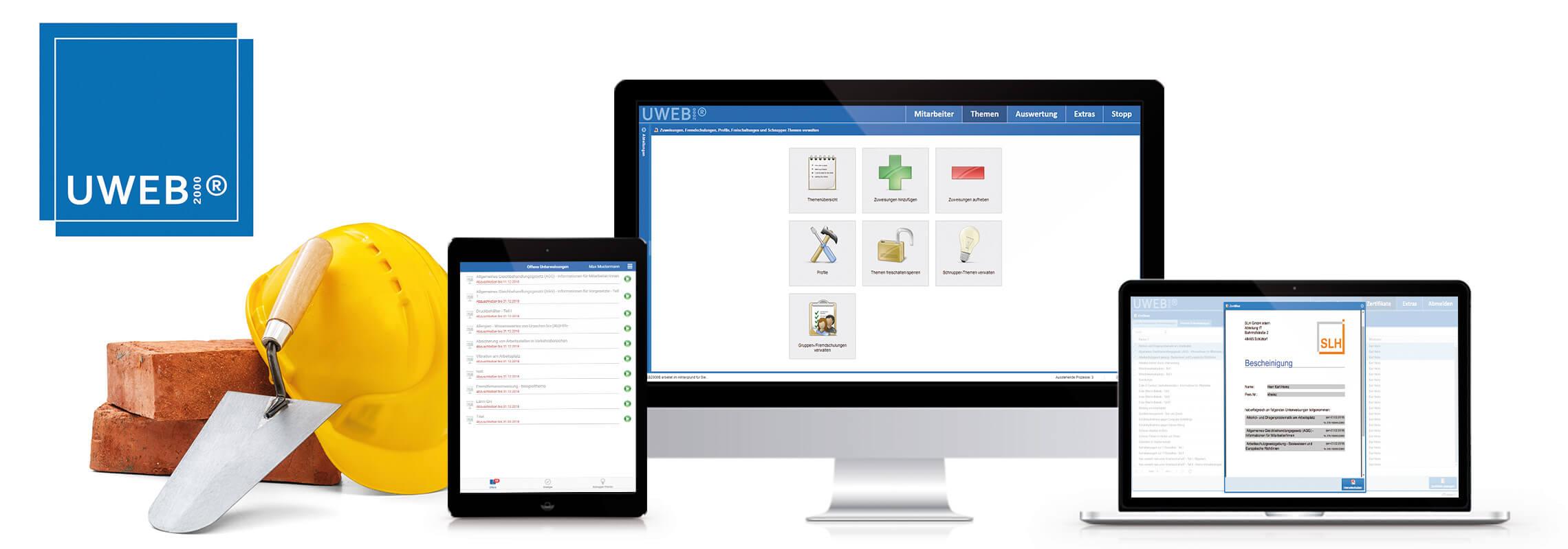 UWEB2000 Software für den sicheren Start in Ihrem Unternehmen