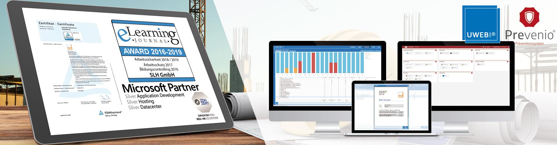 Die SLH GmbH bieten verschiedene Softwarelösungen im Bereich Arbeitssicherheit an.